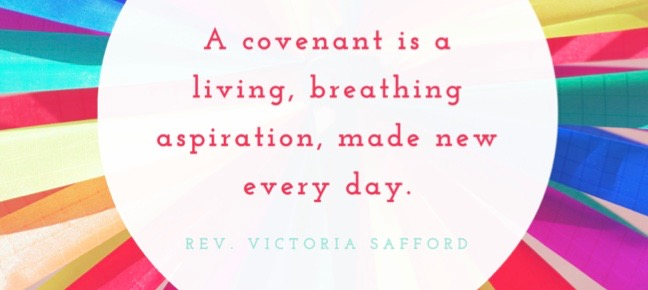 "Text reading ""Covenant is a living breathing aspiration made new everyday."""