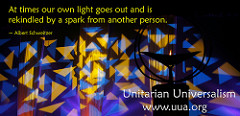 """multi colored abstract image with words """"At times ur own light goes out and is rekindles by the spark of someone else"""" Albert Schweitzer"""