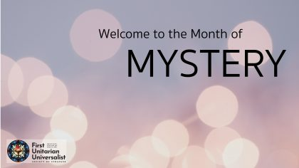 Welcome to the month of mystery